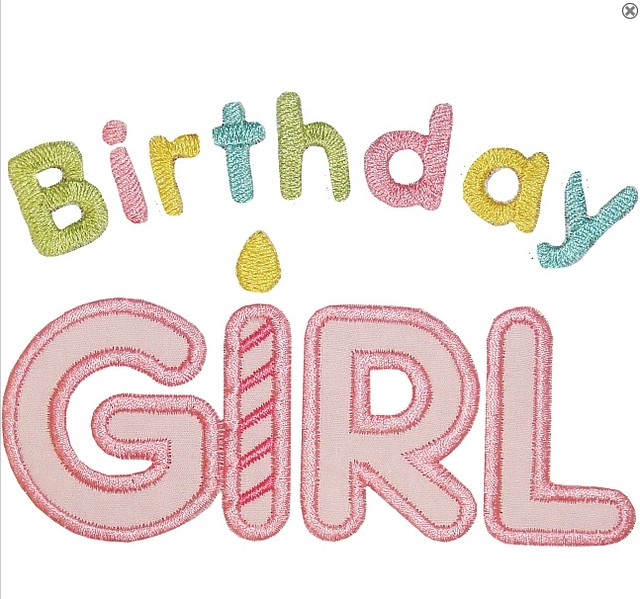 Birthday girl applique