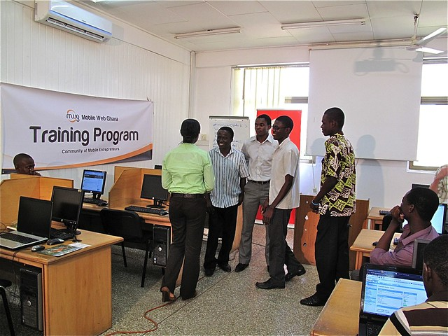 Students of the first training program of Mobile Web Ghana