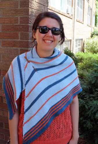 Striped shawl!