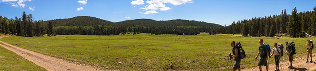 Panorama view of Beaubien Meadow