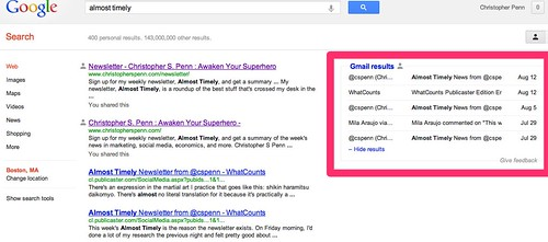 Search optimized subject lines get picked first in Google Search.