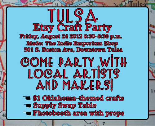 Tulsa Etsy Craft Party 2012