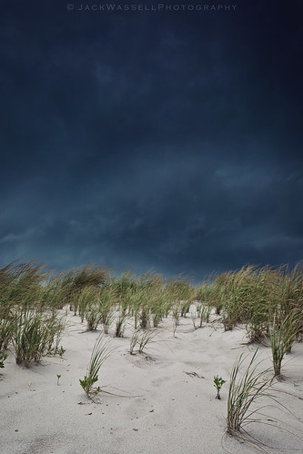 sky storm beach grass rain clouds contrast dark scary thunderstorm lightning thunder downpour seasideparknj jackwassell