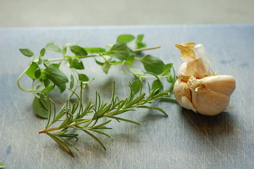 Rosemary, oregano and garlic by Eve Fox, Garden of Eating blog, copyright 2012