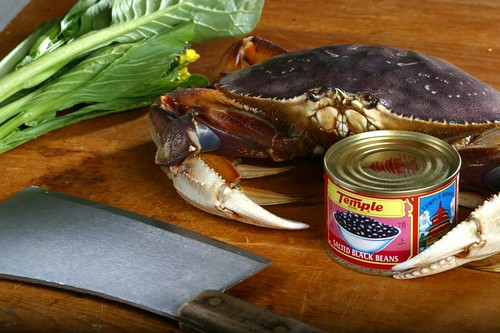 Crab with cleaver and blackbeans