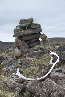 Stone Structure and Caribou Antler