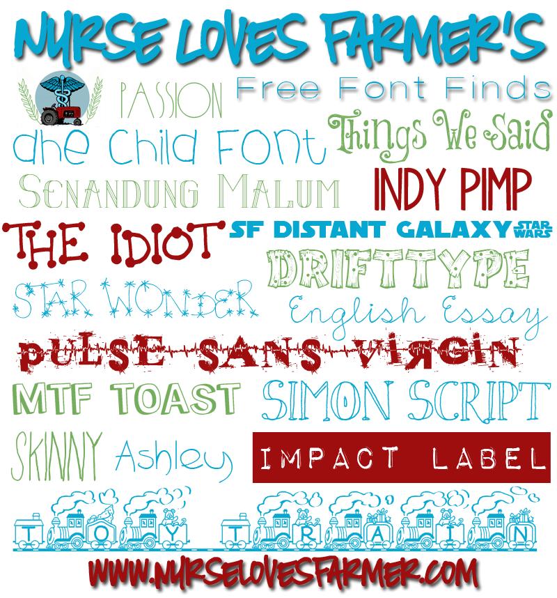 Nurse Loves Farmer Free Font Finds