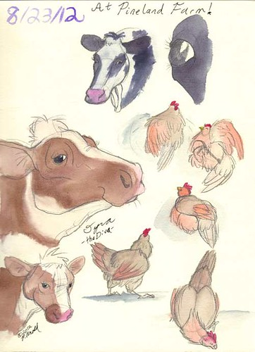 8.24.12 - Pineland Farm Sketches