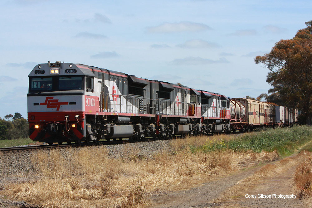 5PM9 SCT Perth to Melbourne freight near Berrybank by Corey Gibson