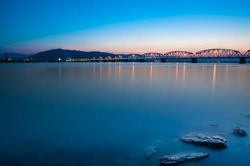 sunset japan tokushima bizan yoshinogawa nikond90