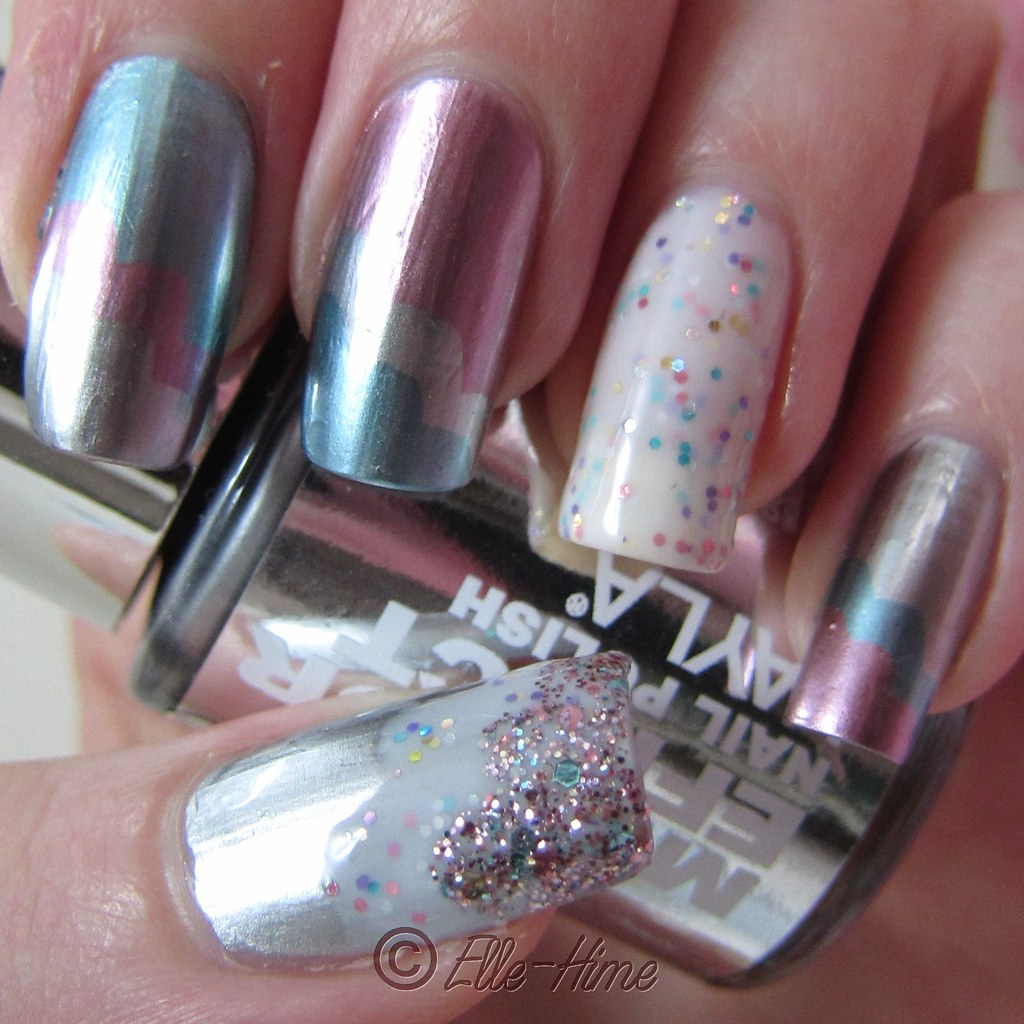 Princessly polished layla mirror effect polish in a cloud for Mirror nail polish