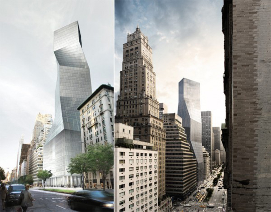 Finalist Design for 425 Park Avenue by OMA. Image via Architizer