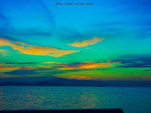 travel sunset sea sky sun holiday beach monument nature water colors clouds strand turkey coast vakantie zonsondergang scenery sony türkiye natuur wolken cybershot zee lucht zon turkije izmir kusadasi reizen kust webshots f505 celcuk