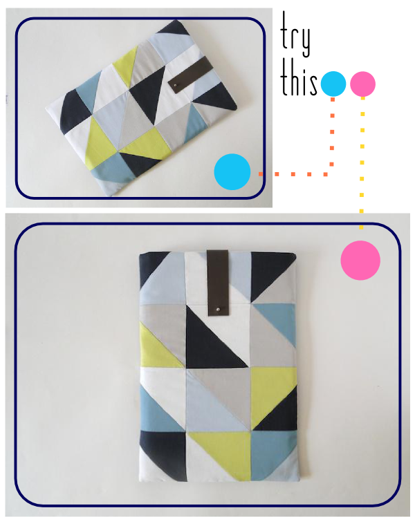 Geometric Laptop Sleeve Tutorial
