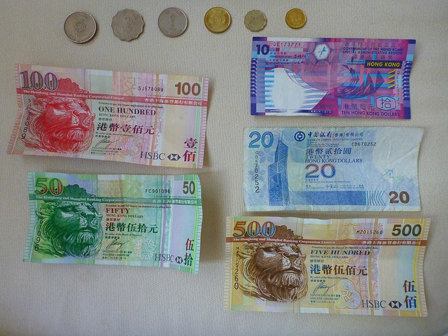 Hong Kong Money / Currency Notes and Coins