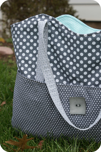 my new dotty bag.