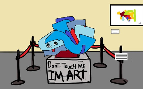 dont touch me , im art by es.obvio