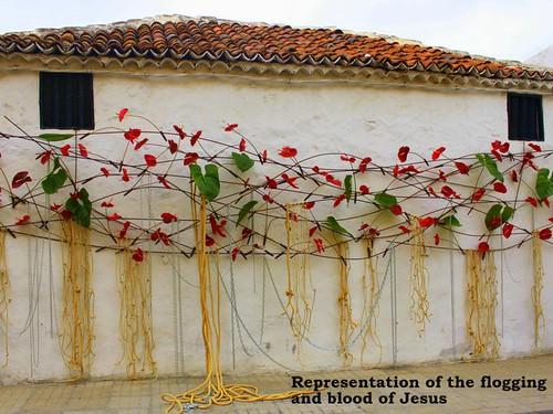 Easter Flower Art in Guia de Isora