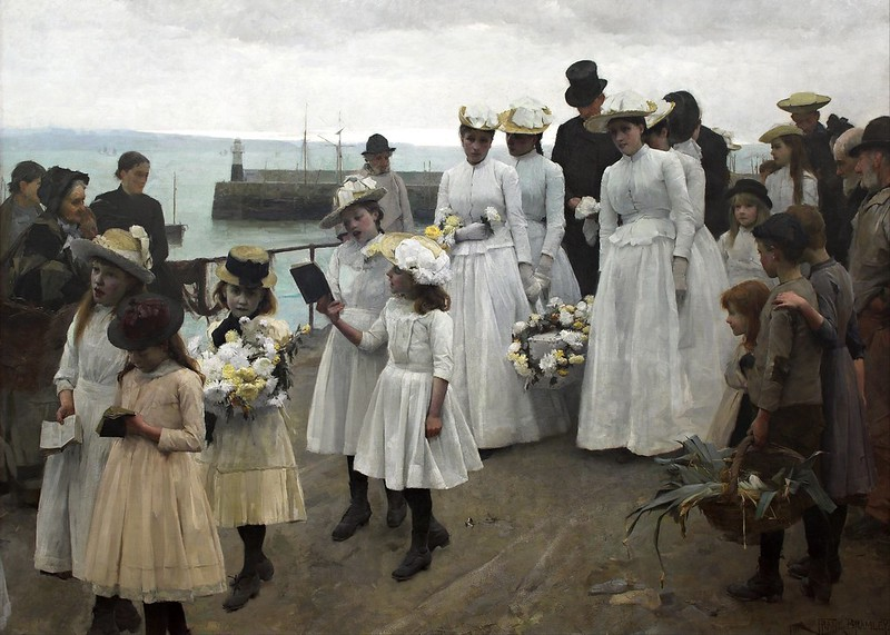 Frank Bramley - For of Such is the Kingdom of Heaven (1891)