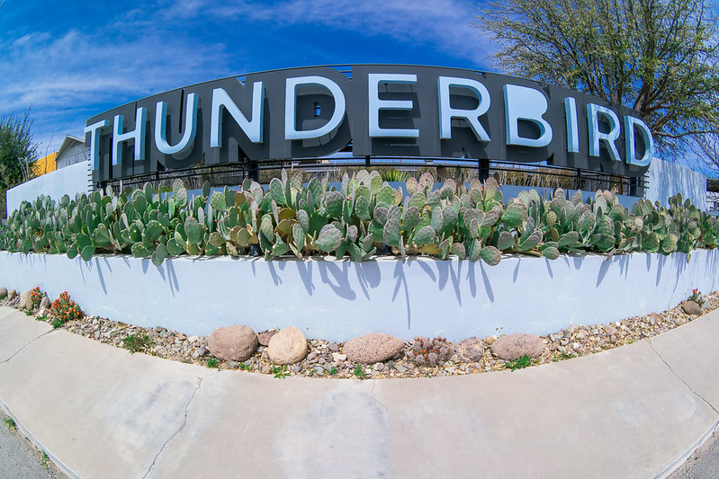 Thunderbird Hotel Sign