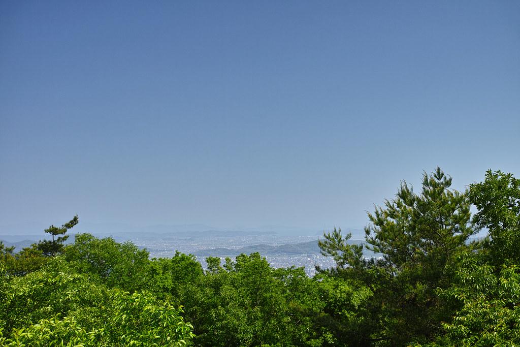笠井山から児島湾を望む