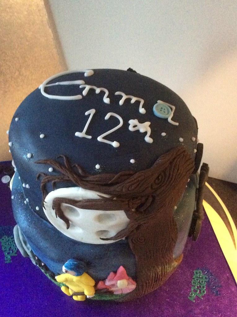 Enjoyable Coraline Birthday Cake 2015 Bar None Flickr Funny Birthday Cards Online Inifodamsfinfo