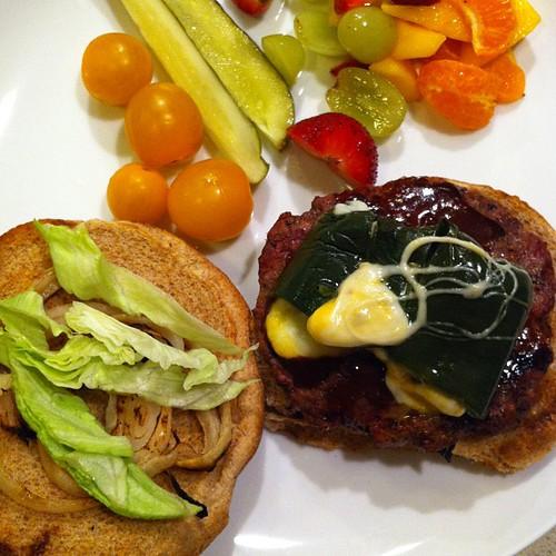T-Man's stuffed poblano hamburguesas #yummy {Day 21} #marchphotoaday