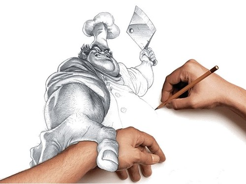 amazing 3d hand drawings.