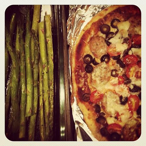 Friday pizza night.