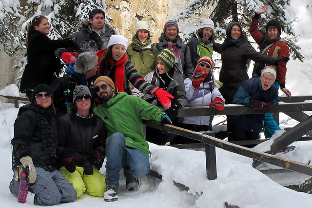 Wedding Guests go Snowshoeing