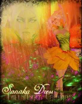 Falln Sanaka Dress Yellow, 660 lindens by Cherokeeh Asteria