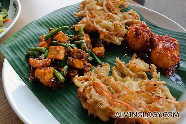More Nasi Padang side dishes