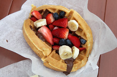 meal(1.0), lunch(1.0), breakfast(1.0), belgian waffle(1.0), produce(1.0), food(1.0), full breakfast(1.0), dish(1.0), cuisine(1.0), waffle(1.0),
