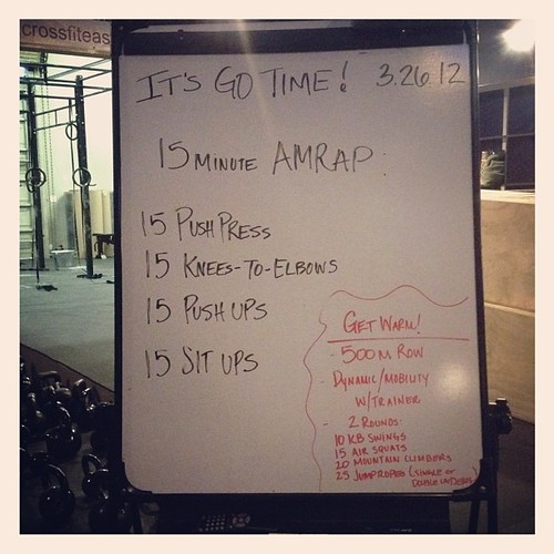Today's #wod aka The Shoulder Killer.