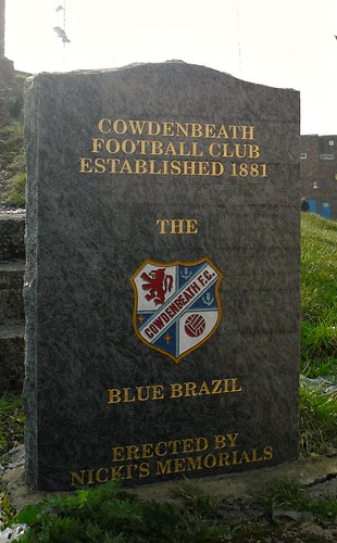 Stone with Cowdenbeath FC Crest, Central Park, Cowdenbeath