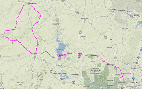 3-24-2012 - Ride Route
