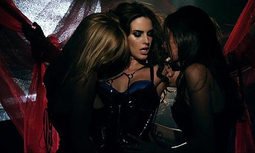Bisexual women kissing