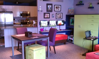 dining room, kitchen, office