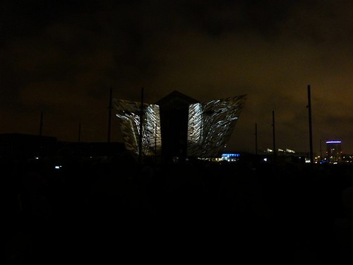 Titanic Belfast Light Show 03