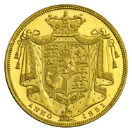 2 pound gold coin of William IV 1831