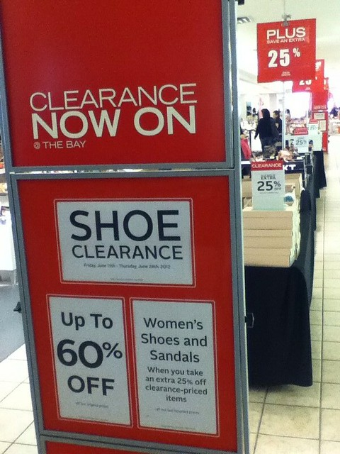 The Bay Shoe 60% OFF plus additional 25% OFF
