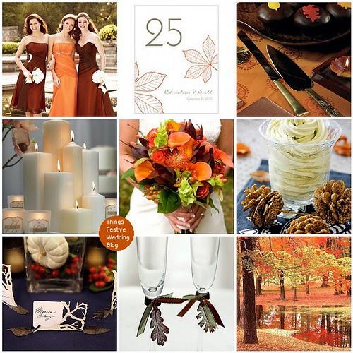 Fall Wedding Colors Tangerine Burnt Orange Chocolate Brown Amp Green