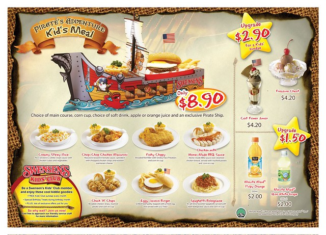 Swensen's Pirate's Adventure Kid's Menu