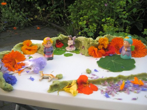flower play dough