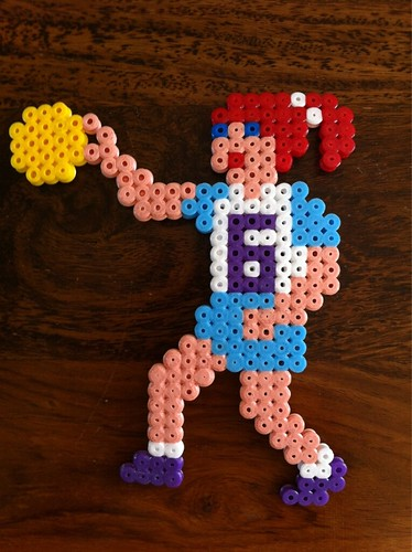 Hama Bead Basketball Player