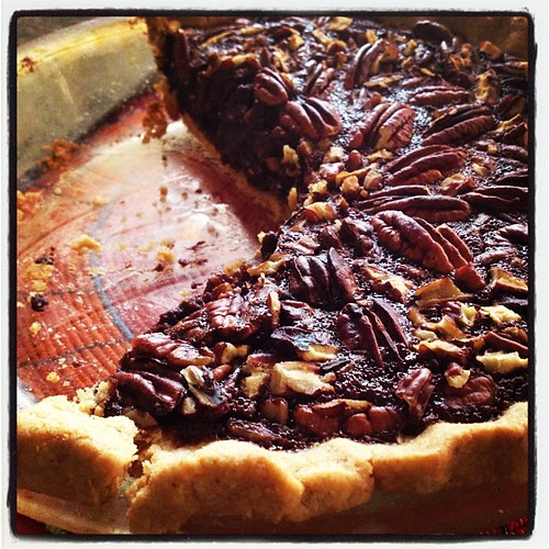 Life is good. Chocolate-bourbon pecan pie. by ConserVentures