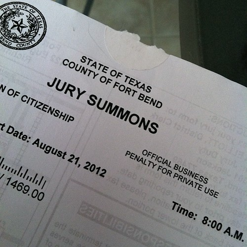 188:365 Fitting end to this crazy week... jury summons arrived today (& hubby got one yesterday)