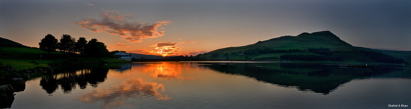 dovestone sunset pano