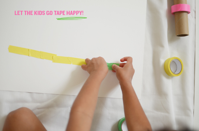 diy: colored tape a