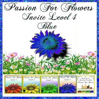 Passion for flowers invito livello 4 blue